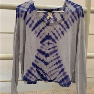 NWT Free People tie dye shirt